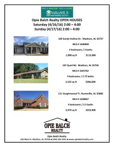 April 16_17 Open Houses